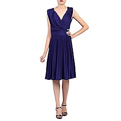 Jolie Moi - Royal plunging neck pleated dress