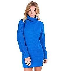 Be Jealous - Blue chunky knitted oversized jumper