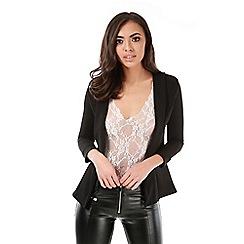 Be Jealous - Black open front blazer coat