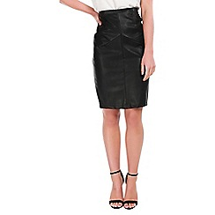 Be Jealous - Black polyurethane skirt