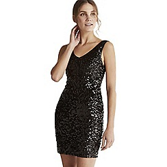 Apricot - Black sequin bodycon party dress