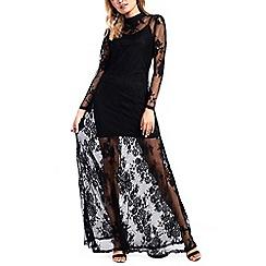 Amalie & Amber - Black lace maxi dress