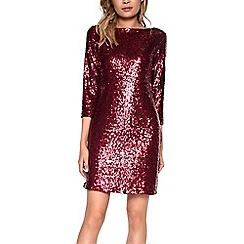 Amalie & Amber - Dark red sequin dress