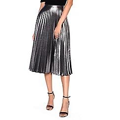 Amalie & Amber - Silver pleated skirt