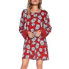 Amalie & Amber - Red crochet trim dress
