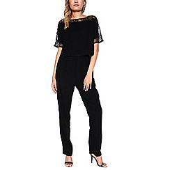 Amalie & Amber - Black lace jumpsuit