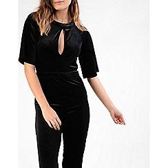 Amalie & Amber - Black velvet jumpsuit