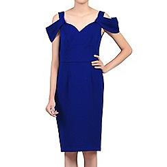 Jolie Moi - Royal fold shoulder shift dress