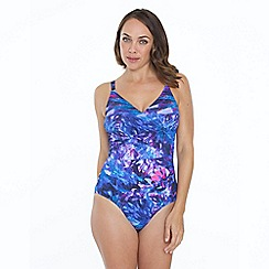 Seaspray - Blue ave print crossover strapsuit