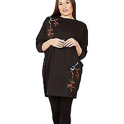 Blue Vanilla - Black embroidery sweat dress