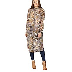 Izabel London - Multicoloured vintage print shirt dress