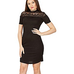 Izabel London - Black lace detail dress