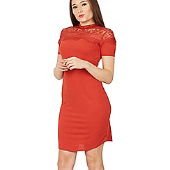 Izabel London - Red lace detail dress