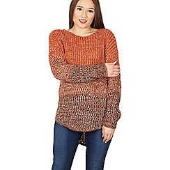Izabel London - Orange round neck knitted pullover