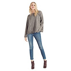 Apricot - Grey woolly boxy jumper