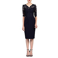 Jolie Moi - Navy v neck lace dress