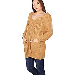 Izabel London - Mustard cable knit pullover