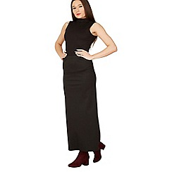 Izabel London - Black plain maxi skirt
