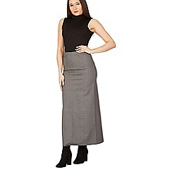 Izabel London - Grey plain maxi skirt