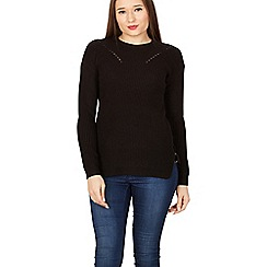 Izabel London - Black ladder detail knit jumper