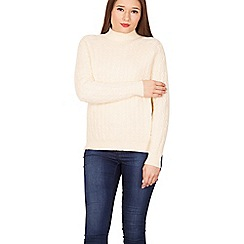 Izabel London - Cream turtle neck jumper