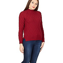 Izabel London - Dark red turtle neck jumper