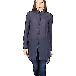 Izabel London - Navy full sleeve shirt top