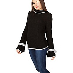 Izabel London - Black round neck knit jumper