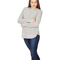 Izabel London - Light grey long sleeve knitted pullover