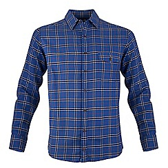 Bar Harbour - Blue tartan check warm handle casual shirt