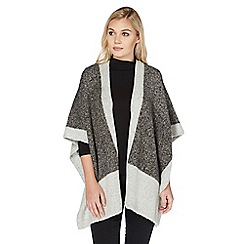 Roman Originals - Grey colour block poncho