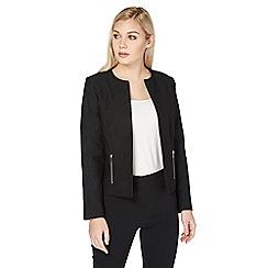 Roman Originals - Black ponte jacquard jacket