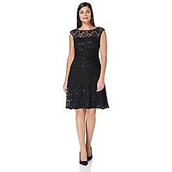 Roman Originals - Black sequin fit and flare dress
