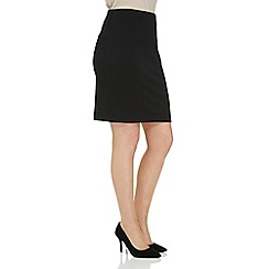 Roman Originals - Black short textured skirt