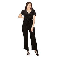 MISSTRUTH - Black angel sleeve velvet jumpsuit