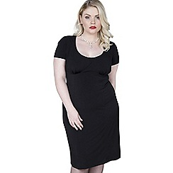 Emily - Black olivia glamour girl bodycon dress
