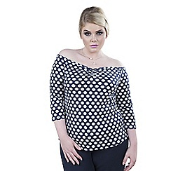 Emily - Multicoloured kayla rouched off shoulder top