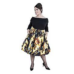 Emily - Multicoloured ashley high waist swing skirt