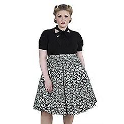 Emily - Green ashley high waist swing skirt