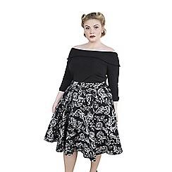 Emily - Black rebecca 50s round high waist skirt