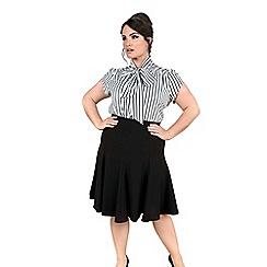 Emily - Black amber fit & flare skirt