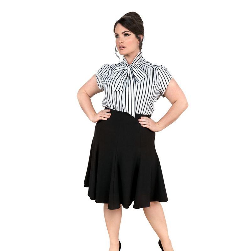 Emily Black amber fit & flare skirt