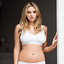 Belvia - White non wired padded Belvia bra