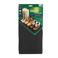 JML - JML Magic Carpet Boot and Shoe Mat Black
