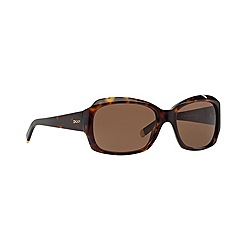 DKNY - Dark tortoise rectangle DY4048 sunglasses