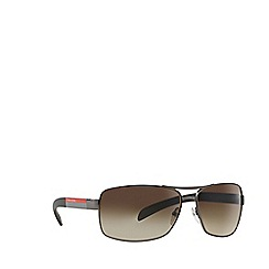 Prada Linea Rossa - Gunmetal rectangle PS 54IS sunglasses