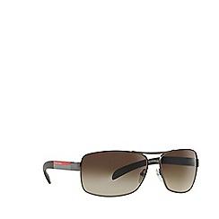 Prada Linea Rossa - Gunmetal rectangle PS 54IS sunglasses
