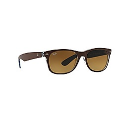 Ray-Ban - Brown square 'RB2132 new wayfarer' sunglasses
