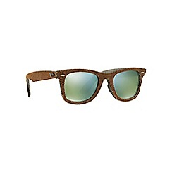 Ray-Ban - Brown square 'RB2140 wayfarer' sunglasses