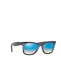 Ray-Ban - Grey 'Wayfarer' RB2140 square sunglasses